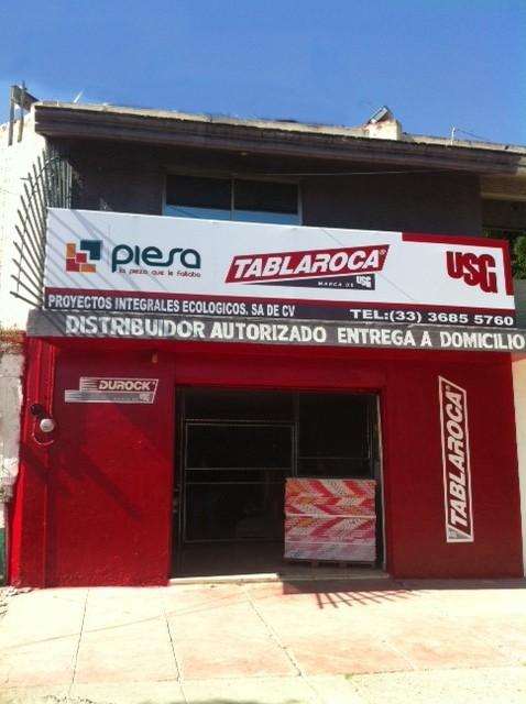 Fachada Sucursal PIESA Tablaroca Sta. Margarita Guadalajara