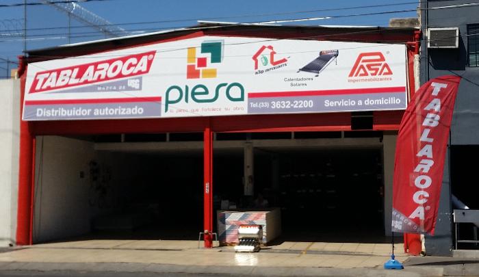 Fachada Sucursal PIESA Tablaroca Centro Guadalajara